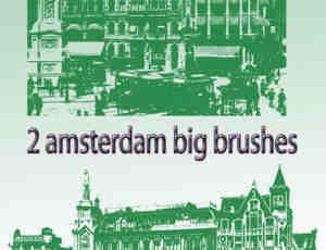 2个阿姆斯特丹建筑笔刷