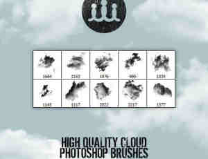 高品质云彩笔刷