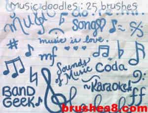 音乐涂鸦笔刷