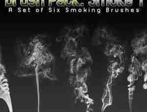 六个烟雾笔刷