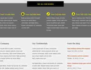 清亮的商业网站模版PSD