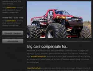 酷黑psd网站模版