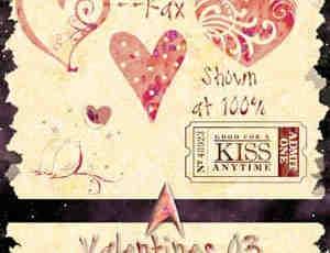 情人节装饰笔刷