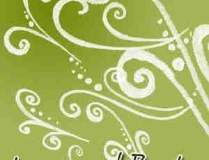 绘制的卷曲花纹笔刷