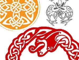 凯尔特式花纹图案笔刷