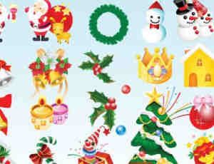 圣诞节图标元素素材
