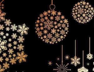 圣诞节背景矢量模版