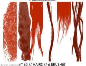 长头发秀发笔刷2