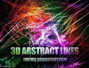 3D抽象线条笔刷