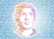 28个文字组成的肖像画欣赏