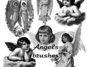 可爱的爱神天使丘比特笔刷
