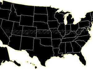 USA美国地图笔刷
