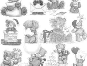 3款可爱卡通小熊笔刷