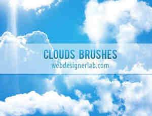 变幻莫测的高空云朵笔刷