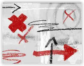 粉笔式箭头符号涂鸦笔刷