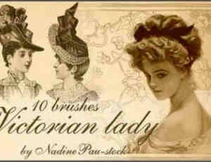 英国贵妇素描画像