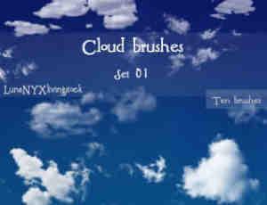 多变的积雨云云朵笔刷