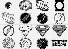 超人徽章标志笔刷