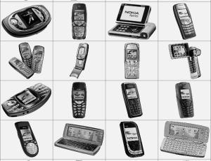 老式诺基亚手机笔刷