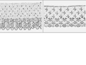 窗帘裙边的花纹边饰笔刷