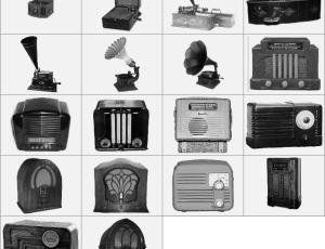 古典收音机放音机留声机笔刷