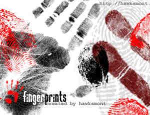 脚印指纹血手印笔刷