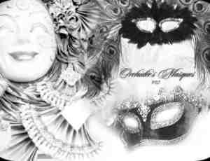 西方化妆舞会的面具笔刷