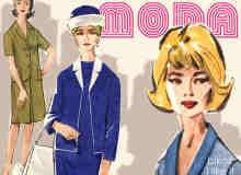 时装展油画女模特笔刷