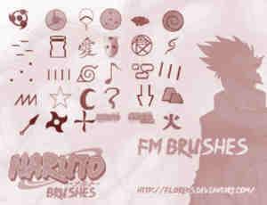 火影忍者符号元素笔刷