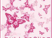 漂亮高贵的蝴蝶花纹背景笔刷