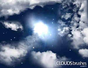 夜晚的云朵笔刷