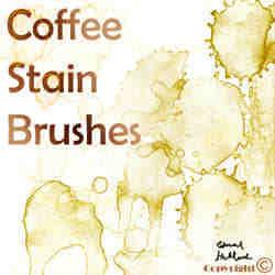 咖啡的污渍笔刷