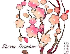 桃花花朵笔刷