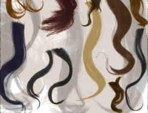 16种长发卷发笔刷