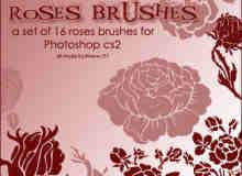 高贵的玫瑰花花纹笔刷