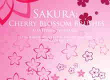 漂亮的樱花图案笔刷