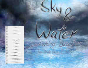 蓝天与海水笔刷