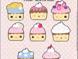 可爱卡通蛋糕PSD素材免费下载