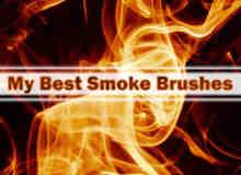 11种烟雾型火焰燃烧笔刷
