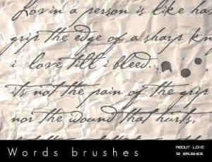 手写书信英文字体效果笔刷