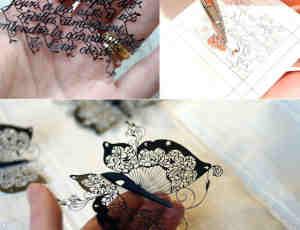 老外的精细活-挑战传统剪纸艺术