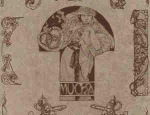 新复古艺术风格人物印花笔刷