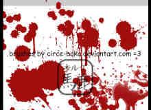 血液喷溅笔刷包下载