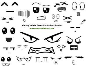 有趣可爱的卡通表情符号笔刷