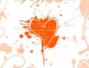 喷溅涂鸦心脏笔刷