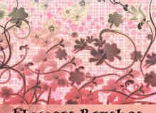 美丽的花纹印花背景笔刷
