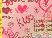 爱情涂鸦素材笔刷