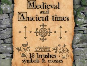 中世纪花式十字架笔刷