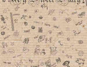 甜蜜的爱情日记符号元素笔刷