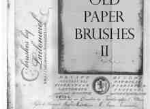 陈旧的英文报纸笔刷